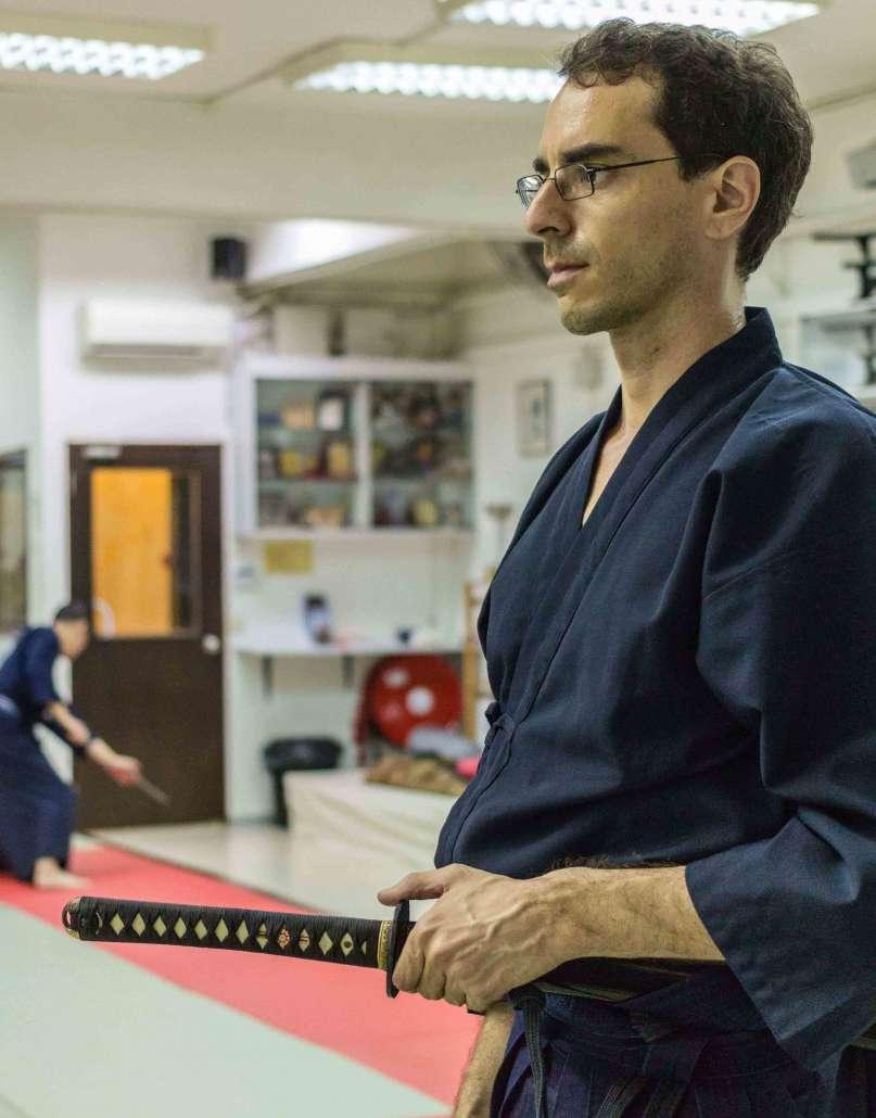 nicolas escoffier meditation practice iaido japanese sword martial art in singapore sekai dojo